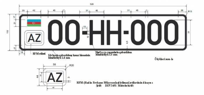 Avtomobil nömrələrinin standartı açıqlanıb - Fotolar