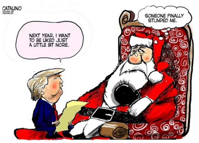 Trump's New Year wish - CARTOON