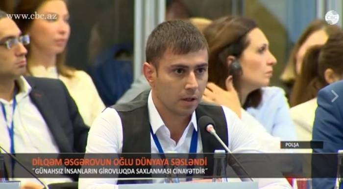Armenians kidnapped my father, says Hostage's son at OSCE summit