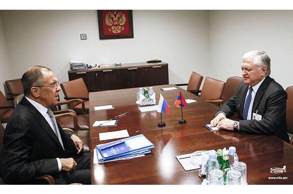 Lavrov ABŞ-da Nalbandyanla görüşüb