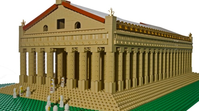 World landmarks recreated with Lego - VIDEO