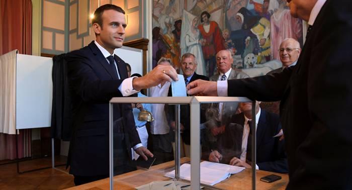 La République en marche! arrive en tête avec 41,25%, selon le ministère de l'Intérieur