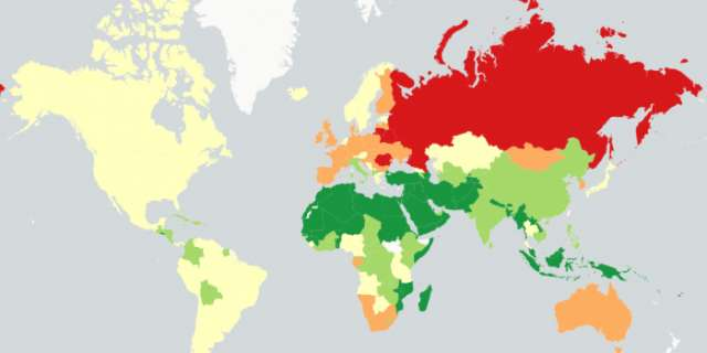 How much alcohol people drink around the world, mapped