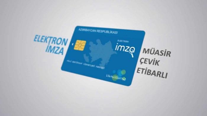 """26 mindən çox """"Elektron imza"""" sertifikatı verilib"""