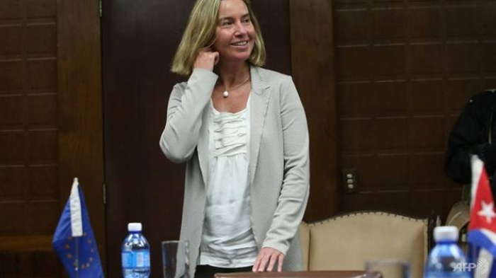EU foreign policy chief says 'blockade' of Cuba not solution