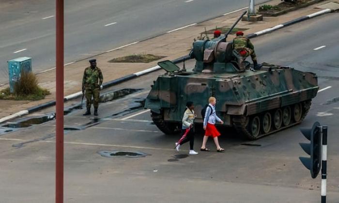 Robert Mugabe's grip on Zimbabwe ebbing away after military takes control