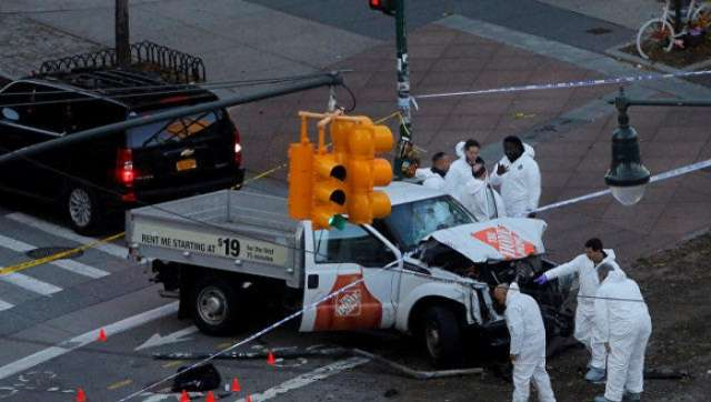 Terrorist attack in New York city kills at least eight, injures dozen more