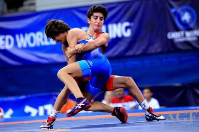 Azerbaijan's Nazarova crowned world wrestling champion in Athens