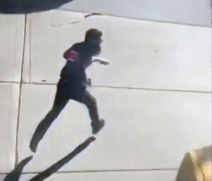 Footage shows New York attack suspect running before being shot - VIDEO