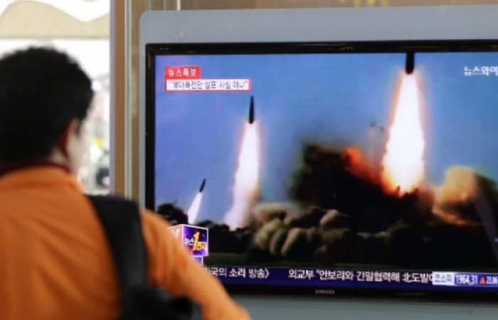 DPRK fires two unidentified missiles