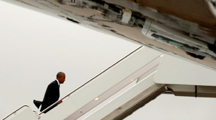 Obama arrives in Israel for funeral of Shimon Peres