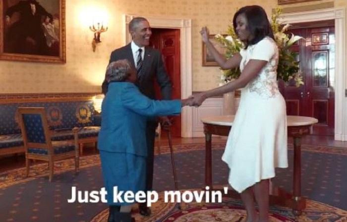 USA: Une femme de 106 ans danse de joie en rencontrant Barack Obama - VIDEO