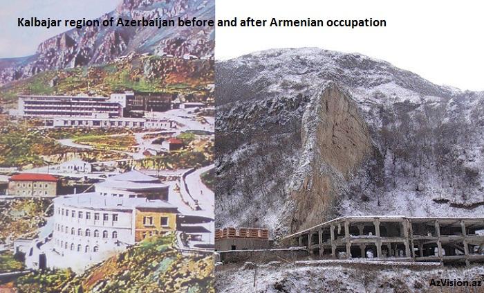 Armenischer Vandalismus in besetztem Gebiet- Keldbaschar