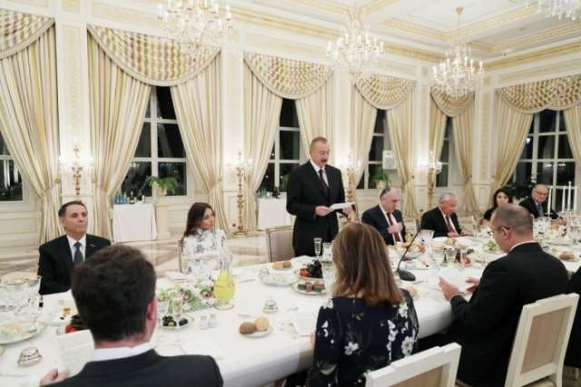 Official reception hosted in Baku in honor of Bulgarian president