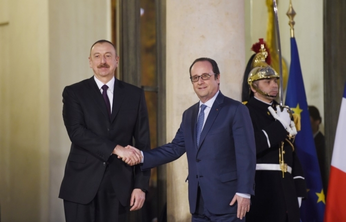 President Aliyev meets with French President Francois Hollande - PHOTOS