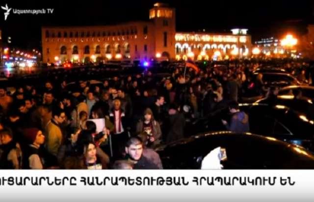 Miles de personas en  Armenia seguirán las acciones arrancadas desde el día de ayer sentadas