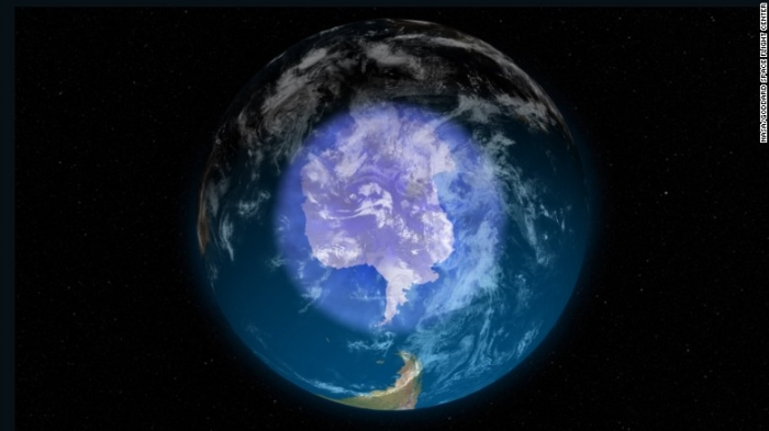 Earth's ozone hole is shrinking & is smallest it has been since 1988