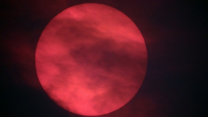 Red sun spotted in sky over UK as Storm Ophelia whips up dust from Sahara
