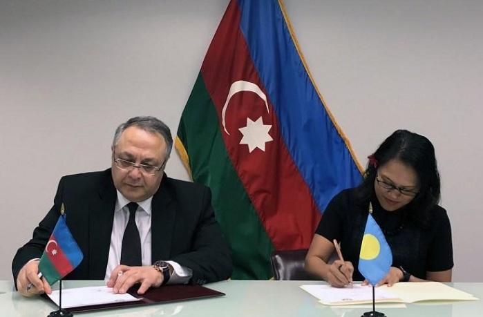 Azərbaycanla Palau arasında kommunike imzalanıb