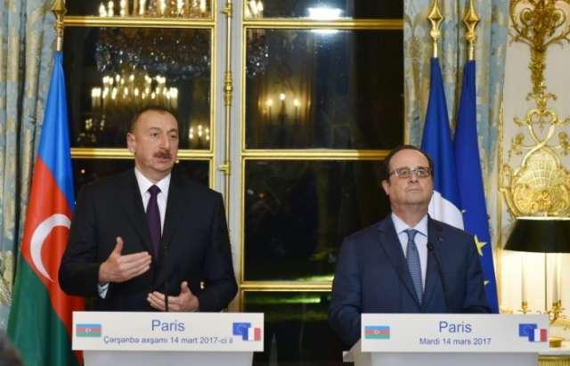 Azerbaijan, France sign documents - PHOTOS