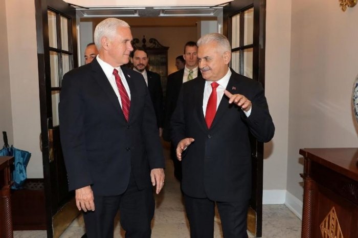 Pence voices U.S. concern to Turkish prime minister about arrests