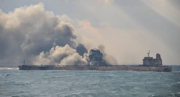 Le pétrolier iranien «Sanchi», en flammes au large de la Chine, a coulé