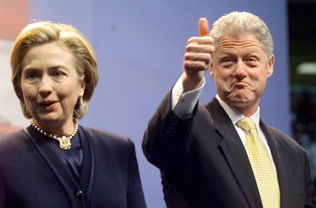 Hillari Klinton prezident ərini döyürmüş...