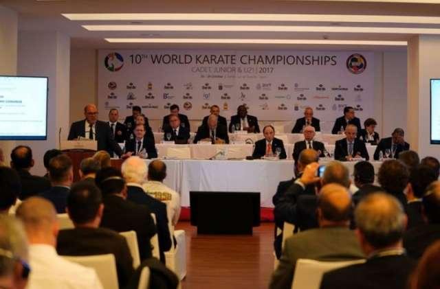 President of Azerbaijan National Karate Federation attends WKF Extraordinary Congress