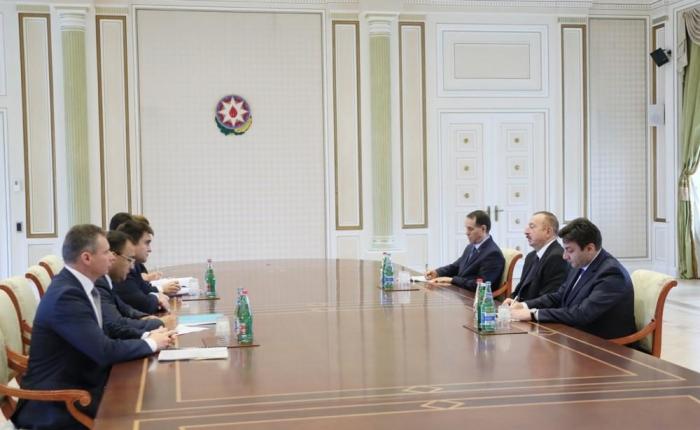 President Aliyev receives delegation led by Ukrainian FM