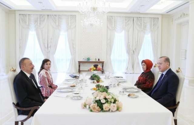 Presidents of Azerbaijan and Turkey had joint dinner