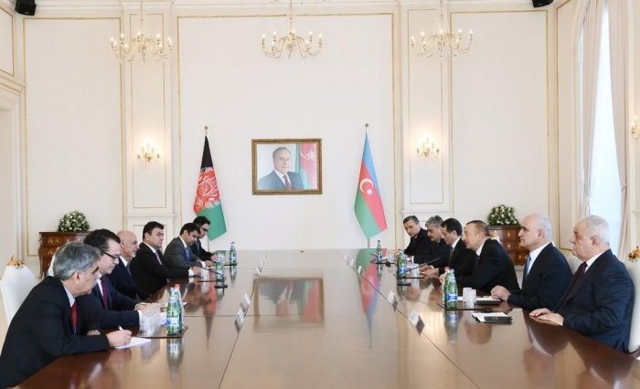 Azerbaijani, Afghan presidents hold expanded meeting