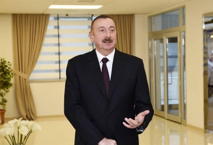 """""""Biz bu sınaqdan şərəflə çıxdıq"""" - İlham Əliyev"""