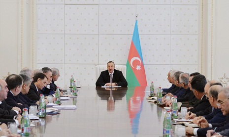 Azerbaijani president chairs Cabinet of Ministers meeting on H1 of 2015