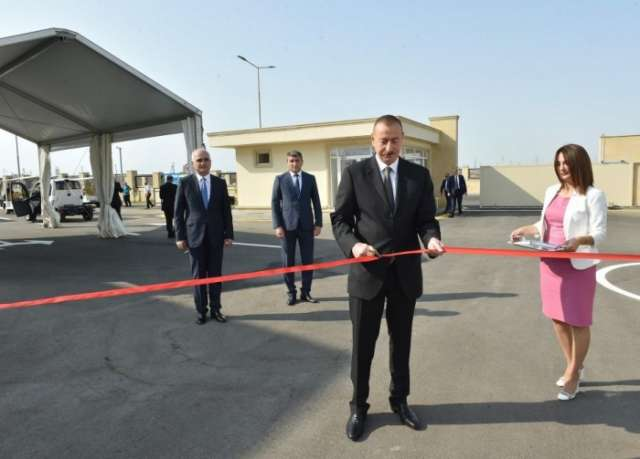 President Ilham Aliyev attends opening of Balakhani Industrial Park