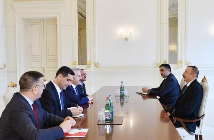 President Aliyev receives Turkish delegation