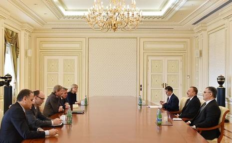 Ilham Aliyev receives European commissioner