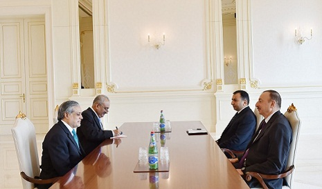 President Ilham Aliyev receive the Pakistani Minister