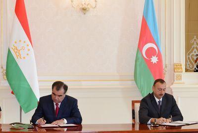 Azərbaycan Tacikistanla 4 sənəd imzaladı
