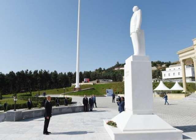 President Ilham Aliyev arrives in Gadabay district for visit