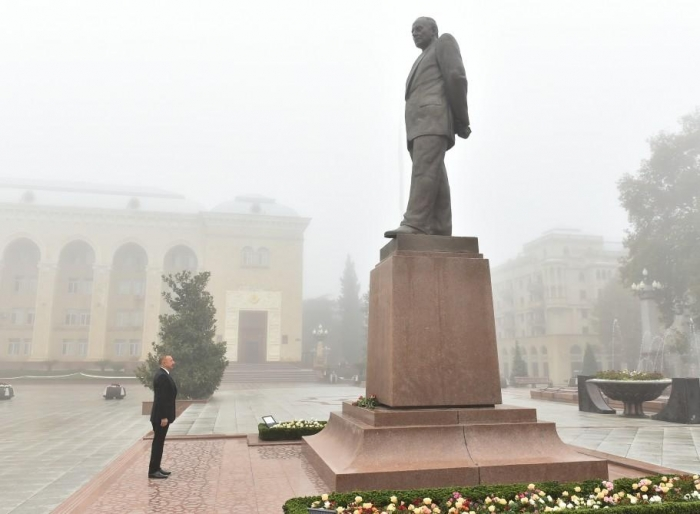 President Aliyev arrives in Ganja city, attends openings - UPDATED