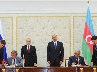 Azerbaijan, Russia sign bilateral documents