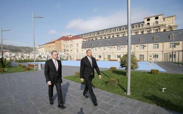 President Aliyev views newly-built sports, recreation park in Baku