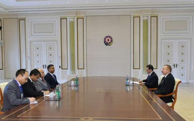 President Aliyev receives delegation led by Indian minister of state