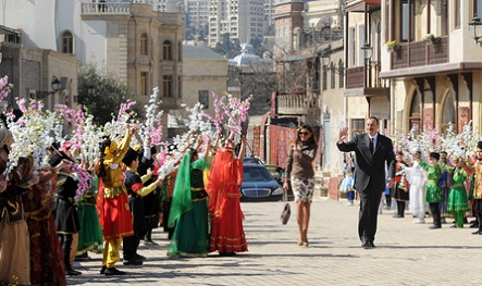 Prezident Novruz şənliklərində iştirak edib