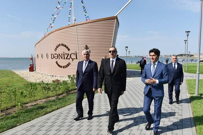 Prezident Pirallahıda açılışlar etdi - Yenilənib (Fotolar)