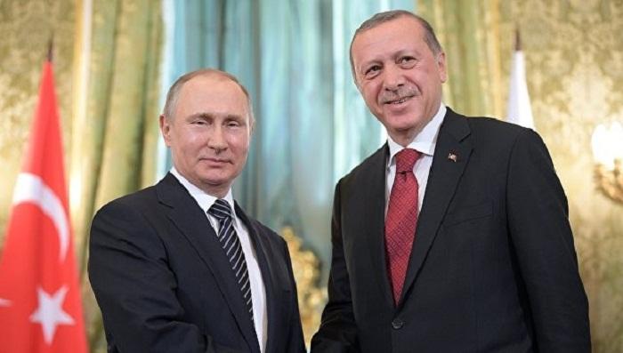 Ərdoğan Putinlə Suriyanı müzakirə edib