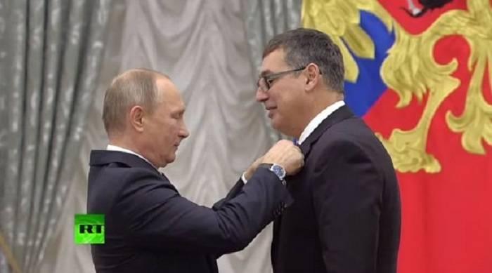 Putin azərbaycanlı olimpiya çempionunu təltif etdi - FOTO