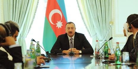 Forum iştirakçıları İlham Əliyevin qəbulunda
