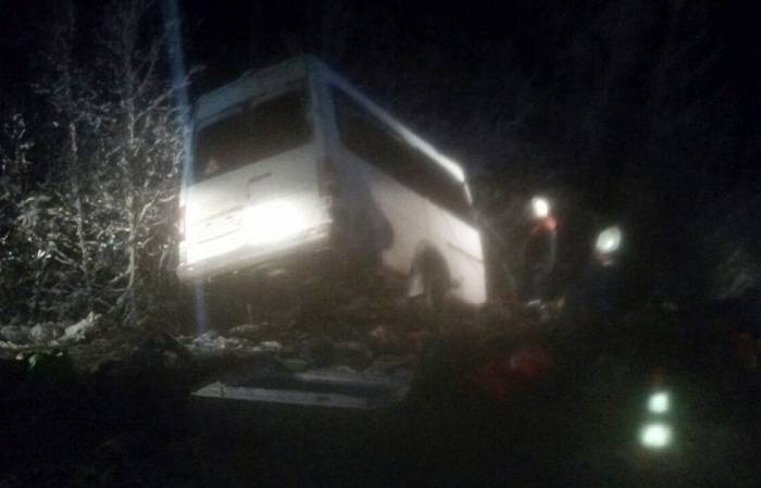 Rusiyada avtobus qəzasında 14 nəfər ölüb