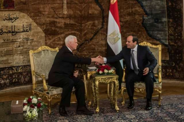Pence tells Egypt's Sisi that U.S. would back two-state solution